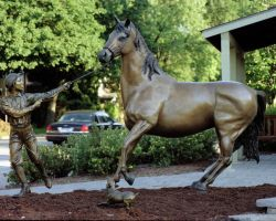 Bronze Horse  Life Size  8' x by FireBoar
