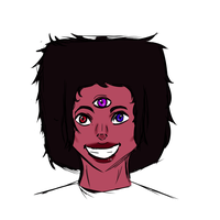 Garnet and Paint tool Sai practice by So-Many-Peaches