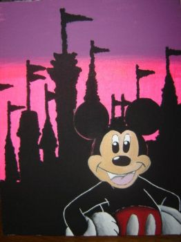 Mickey Mouse at Disney World by tinkerbellfairy