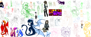 The Biggest Sketchdump In History by Luciiid