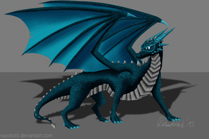 Full Scaled Blue Dragon Character Pollux by Vapolord