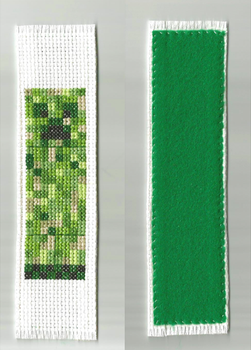 Creeper bookmark by mew-trainer-rose