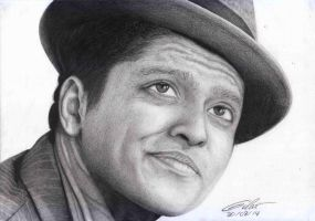 Bruno Mars by gilartria