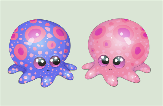 2 Cute Little Octopus by Ynik-name