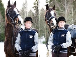 horse and owner in januari 2013 #2 by TinyCricket