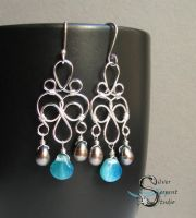 Seashell Chandelier Earrings by PurlyZig