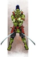 Orc Swordsman by PeterSiedlArt