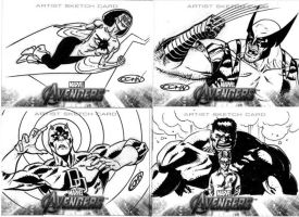 Marvel Sketch Cards- Avengers 1 by ScottCohn