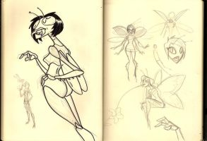Insect Girl Sketches by WesleyRiot
