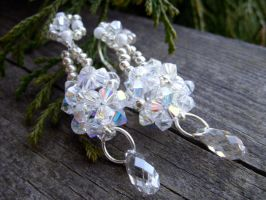 Swarovski Wedding Earrings by kickthebucket