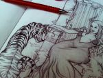 tiger throne detail by chockoladien