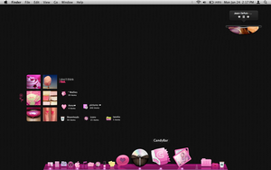 GirlyBlack and Pink Mac Screen by tunerbarbie