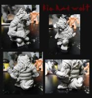 Big Rad Wolf completed sculpt views by Meadowknight