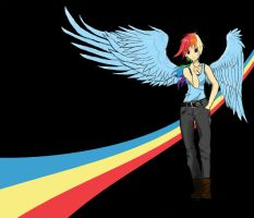 Rainbow Dash, background by Stormcolt413