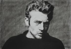 Jame Dean in charcoal by astrogoth13