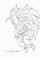 Kid Goku Transforming SSJ3 by MiraiWarriorWithin