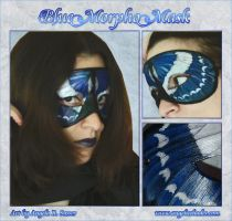 Blue Morpho Butterfly Mask by Angelic-Artisan