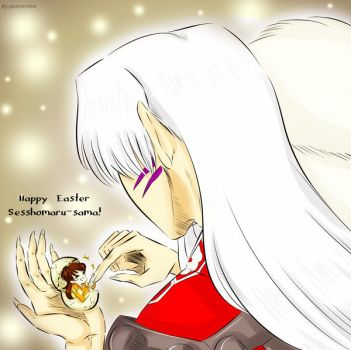 Happy Easter Sesshomaru-sama! by Pamianime