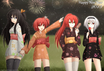 Happy New year 2013 by Kazenokaze