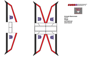 armada starscream cubee template part two by lovefistfury