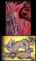 ACEO Red and Yellow by Sysirauta