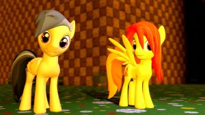 Male Daring Doo and Hairdown Spitty (DL) by Legoguy9875