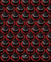 DART BUTTONS red by ANOZER