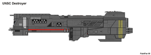 UNSC Destroyer Iroquois by PaintFan08