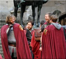 Pierrefonds Sept.2012 - The knights and their king by MorgainePendragon