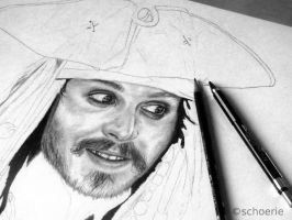 Captain Jack Sparrow WIP by Schoerie