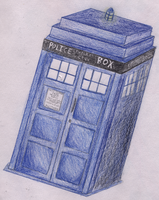 TARDIS Drawing by theRealPadster