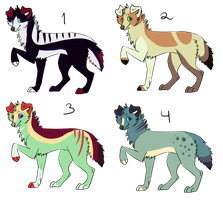 Canine Adoptables -OPEN- by SummerAdopts