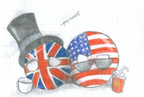 countryballs- England and America by Grey-Sweet