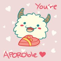 Poro - LoL Valentines Card by Cherrycake4