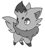 Zorua Lineart/Base (MS Paint-friendly) by PiroBases