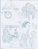 Language Arts Wall by SilverLizzy5