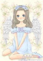 Angel and Lilies by Hairei