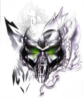Cyber PUNISHER SKULL TATTOO by NeoGzus