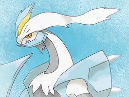 White Kyurem by FlameTheFlareon