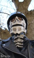 Commission: Skull Riding Mask and Neck Guard by Epic-Leather