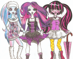 Monster High girls by MyAnimaLibera