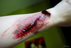 Fake wound by Shaaawn