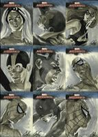 Marvel Masterpieces set 4 by gattadonna