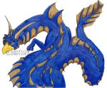 Blue dragon by CloudTiger