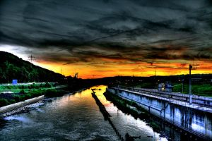 Sky in flames HDR by xMAXIx