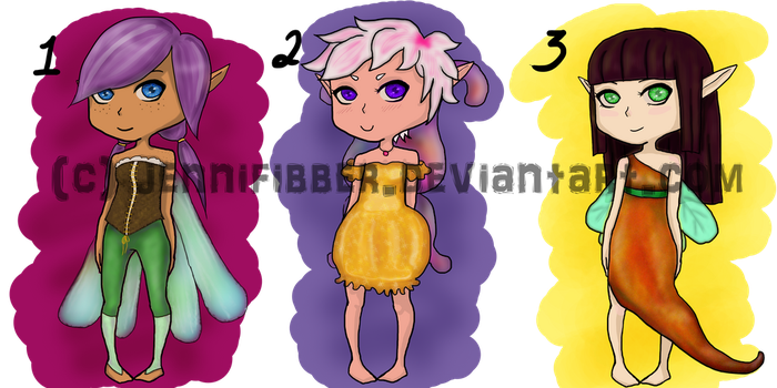 [OPEN] Fairy Adoptables by jennifibber