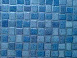 blue mosaic linoleum - closer by dr-druids-STOCK