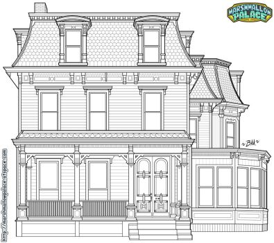 Victorian House Vector Commission by baby-marshmallow