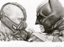 The Dark Knight Rises - Bane vs Batman by TheKrystleGallery