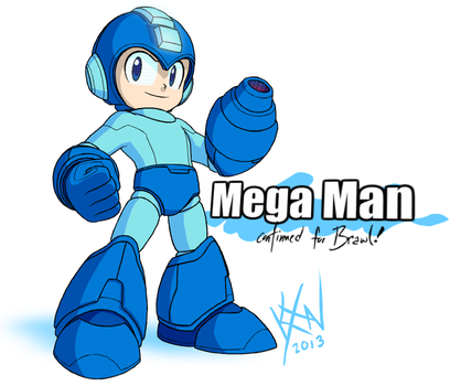 SSB Drawl - Newcomer: Mega Man by kevinxnelms